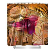 Sticky Hand Shower Curtain