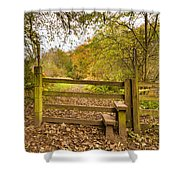 Stile In Plessey Woods Shower Curtain