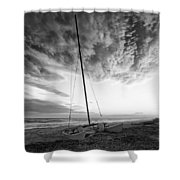 Still Ashore Shower Curtain