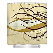 Still Branches Of Life Shower Curtain