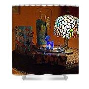Still Life Christmas Peace Shower Curtain