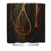 Still Life - Fishing Nets Shower Curtain by Jeff Burgess
