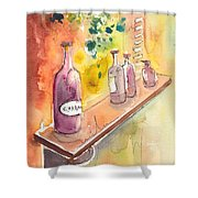 Still Life In Chianti In Italy Shower Curtain by Miki De Goodaboom