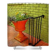 Still Life In Colorful Alley  Shower Curtain