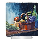 Still Life In Watercolours Shower Curtain