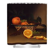 Still Life With Oranges Shower Curtain