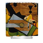 Still Life With A Guitar Shower Curtain