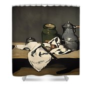 Still Life With A Kettle Shower Curtain