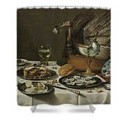 Still Life With A Turkey Pie Shower Curtain