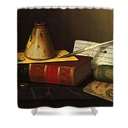 Still Life With A Writing Table Shower Curtain