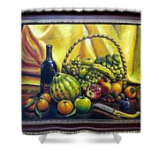 Still Life With Basket Shower Curtain