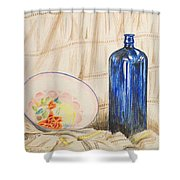 Still-life With Blue Bottle Shower Curtain