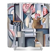 Still Life With Brown Jug Shower Curtain