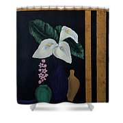 Still Life With Calla Lilies Shower Curtain