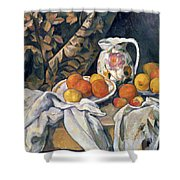 Still Life With Drapery Shower Curtain