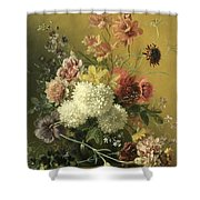 Still Life With Flowers Shower Curtain