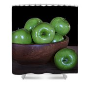 Still Life With Green Apples Shower Curtain