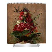 Still Life With Hummingbird Shower Curtain