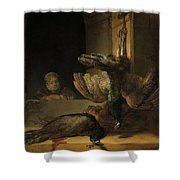 Still Life With Peacocks Shower Curtain