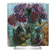Still Life With Peonies Shower Curtain