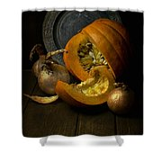 Still Life With Pumpkin Shower Curtain