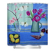 Still Life With Sea View Sold Shower Curtain