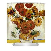 Still Life With Sunflowers Shower Curtain