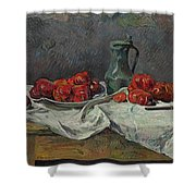 Still Life With Tomatoes Shower Curtain