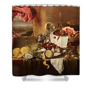 Still Life With View Shower Curtain
