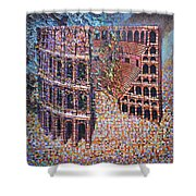 Still Stadium Shower Curtain by Mark Jones