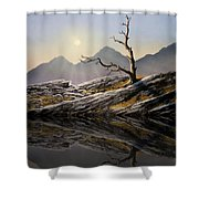 Still Standing Reflections Shower Curtain