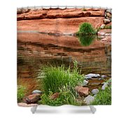 Still Waters At Slide Rock Shower Curtain