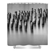 Still Waters Bw Shower Curtain
