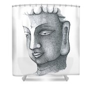 Stillness Shower Curtain by Keiko Katsuta