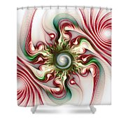 Stimulation Shower Curtain by Anastasiya Malakhova