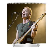 Sting Of The Police Shower Curtain