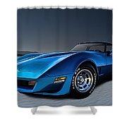 Stingray Blues Shower Curtain