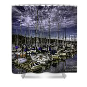 Stirring The Sky Shower Curtain