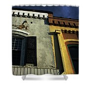 Stitched Buildings Shower Curtain
