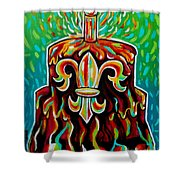 Stl250 Fleur De Lis Cake Payne Gentry House 2 Shower Curtain