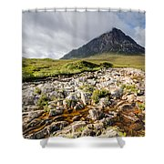 Stob Dearg Mountain Shower Curtain