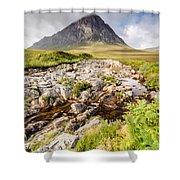 Stob Dearg Peak Shower Curtain