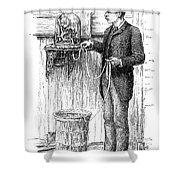 Stock Ticker, 1885 Shower Curtain