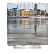Stockholm Winter Shower Curtain