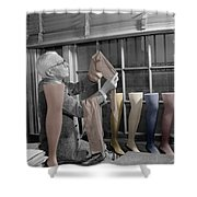 Stocking Inspector Shower Curtain