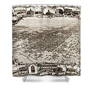 Stockton San Joaquin County California  1895 Shower Curtain by California Views Mr Pat Hathaway Archives