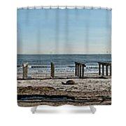 Stolen Boardwalk Shower Curtain