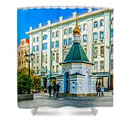 Stoleshnikov Lane Shower Curtain