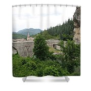 Stone Arch Bridge Over River Verdon Shower Curtain