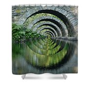 Stone Arch Bridge Over Troubled Waters - 1st Place Winner Faa Optical Illusions 2-26-2012 Shower Curtain